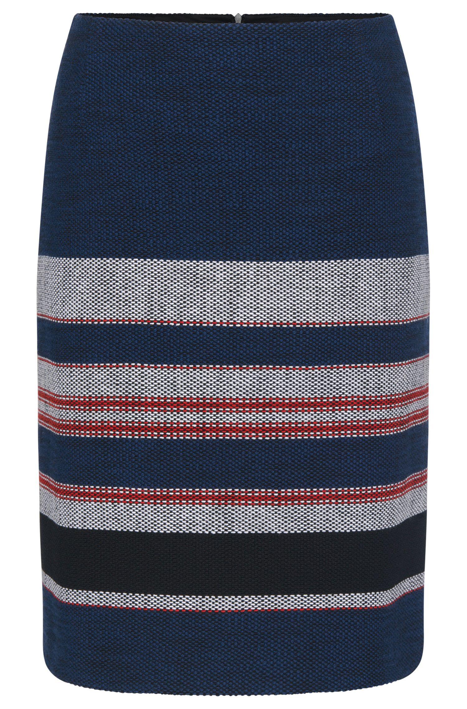 Falda ligeramente acampanada en mezcla de algodón elástico: 'Vetina'