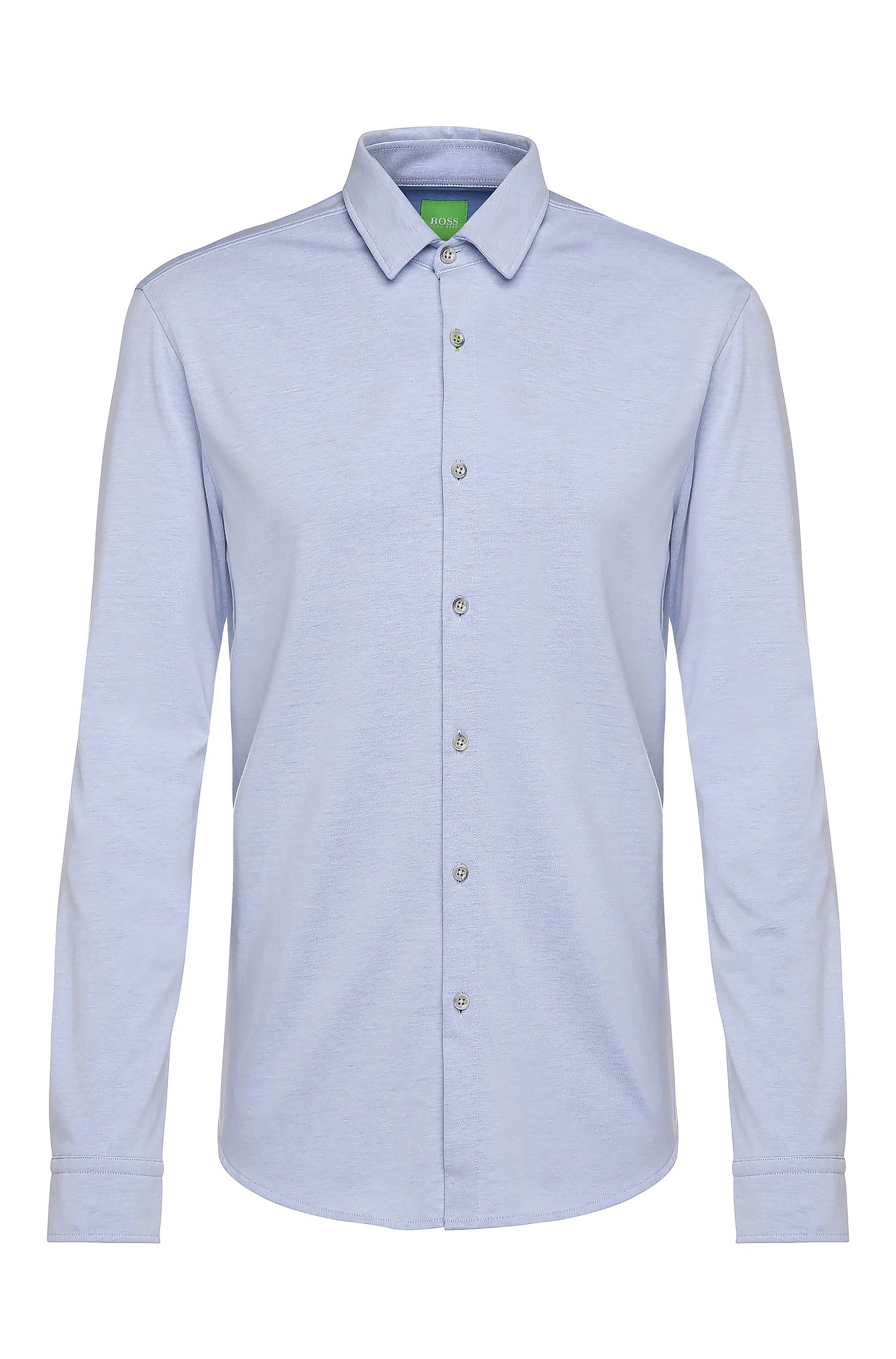 Slim-fit jersey shirt in cotton blend: 'Brizzi'