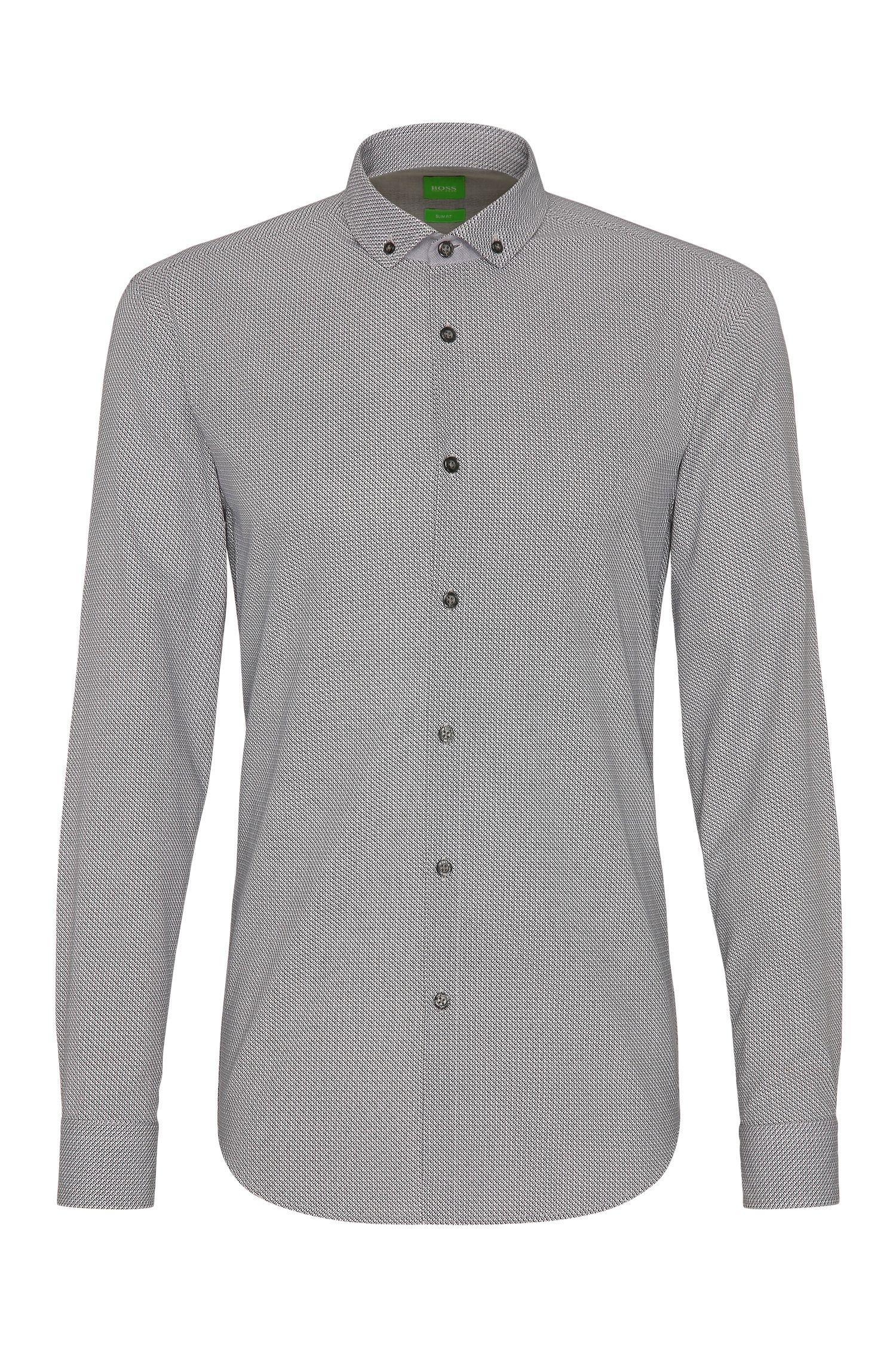 Camisa slim fit en algodón con un fino estampado: 'C-Bilia'