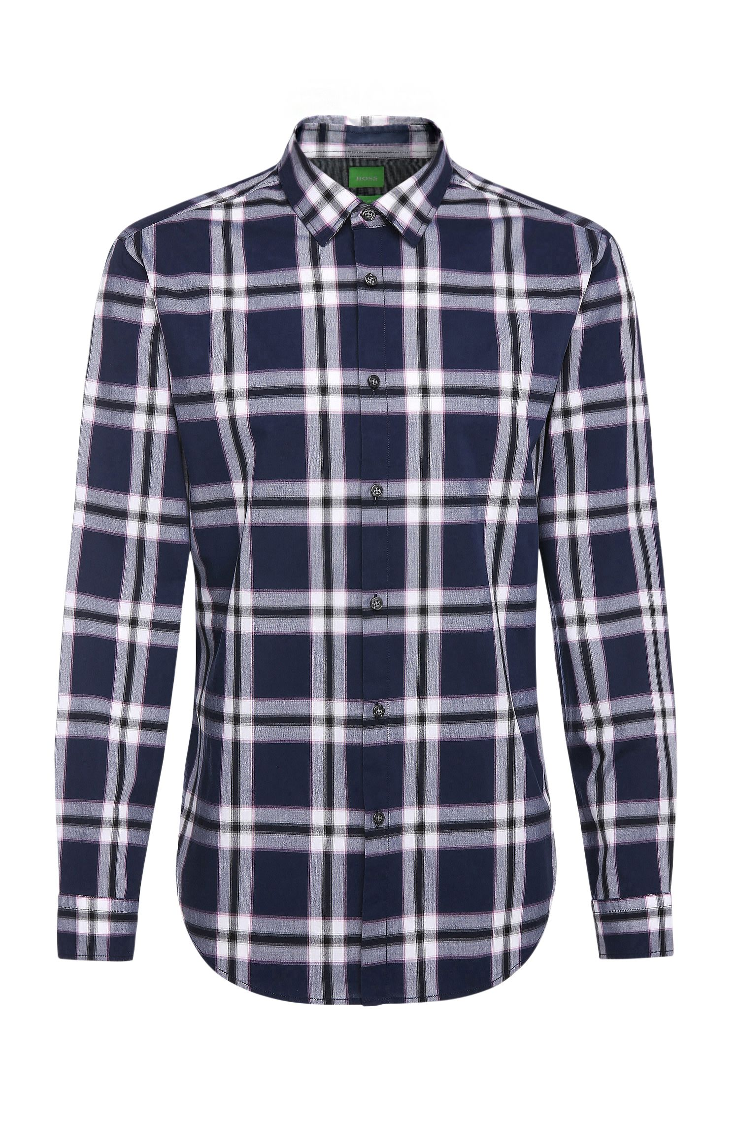 Regular-fit shirt with tartan pattern: 'C-Bopaz'