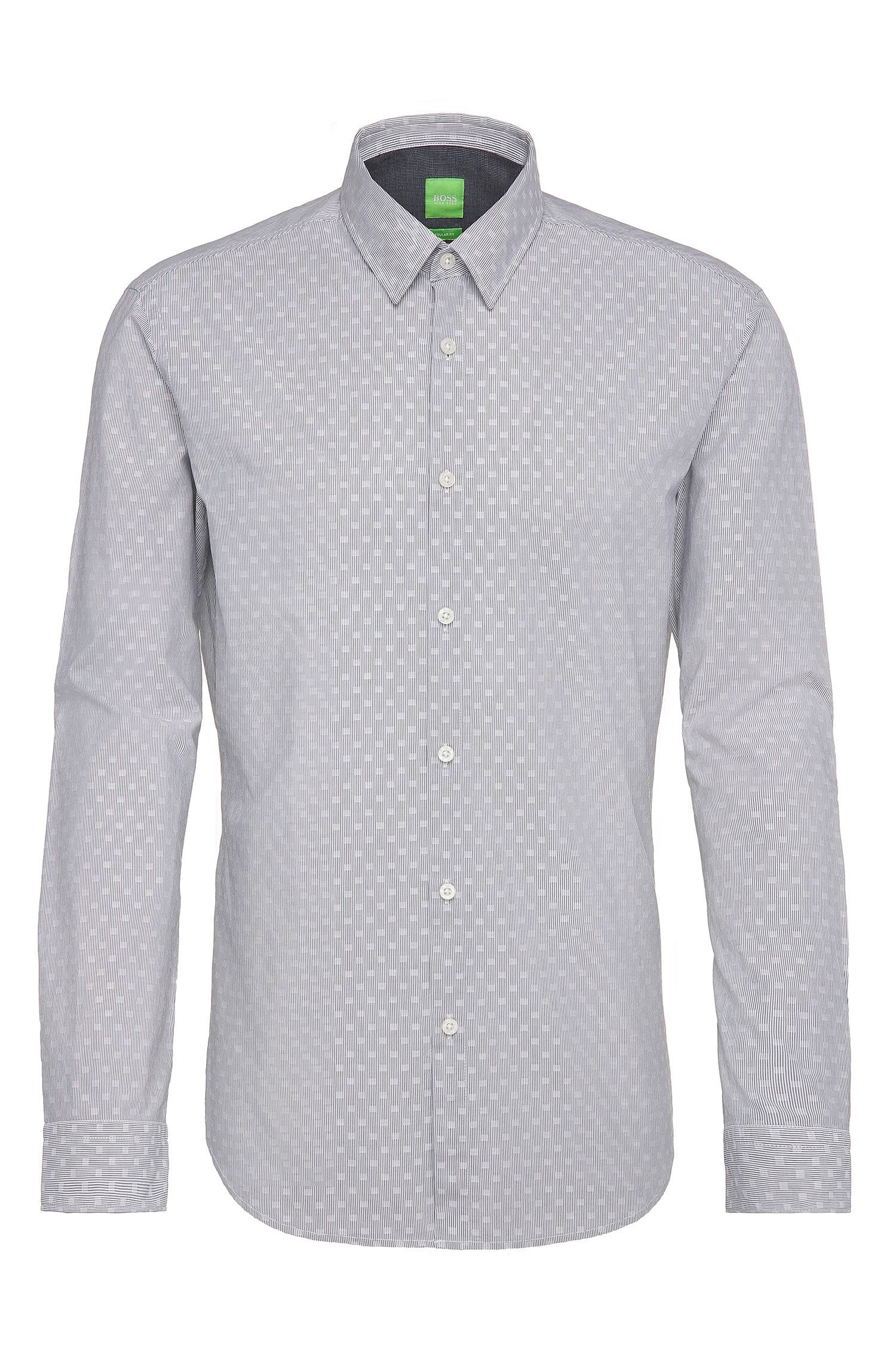 Patterned regular-fit shirt in cotton: 'C-Bustai'