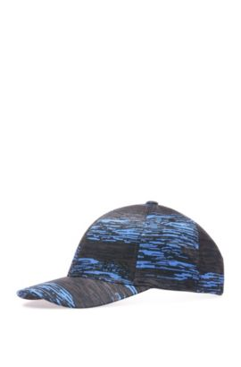 Baseball cap in material blend with pattern: 'Printcap', Dark Blue