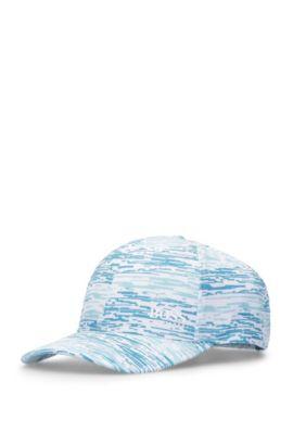 Basecap aus Material-Mix mit Muster: ´Printcap`, Hellblau