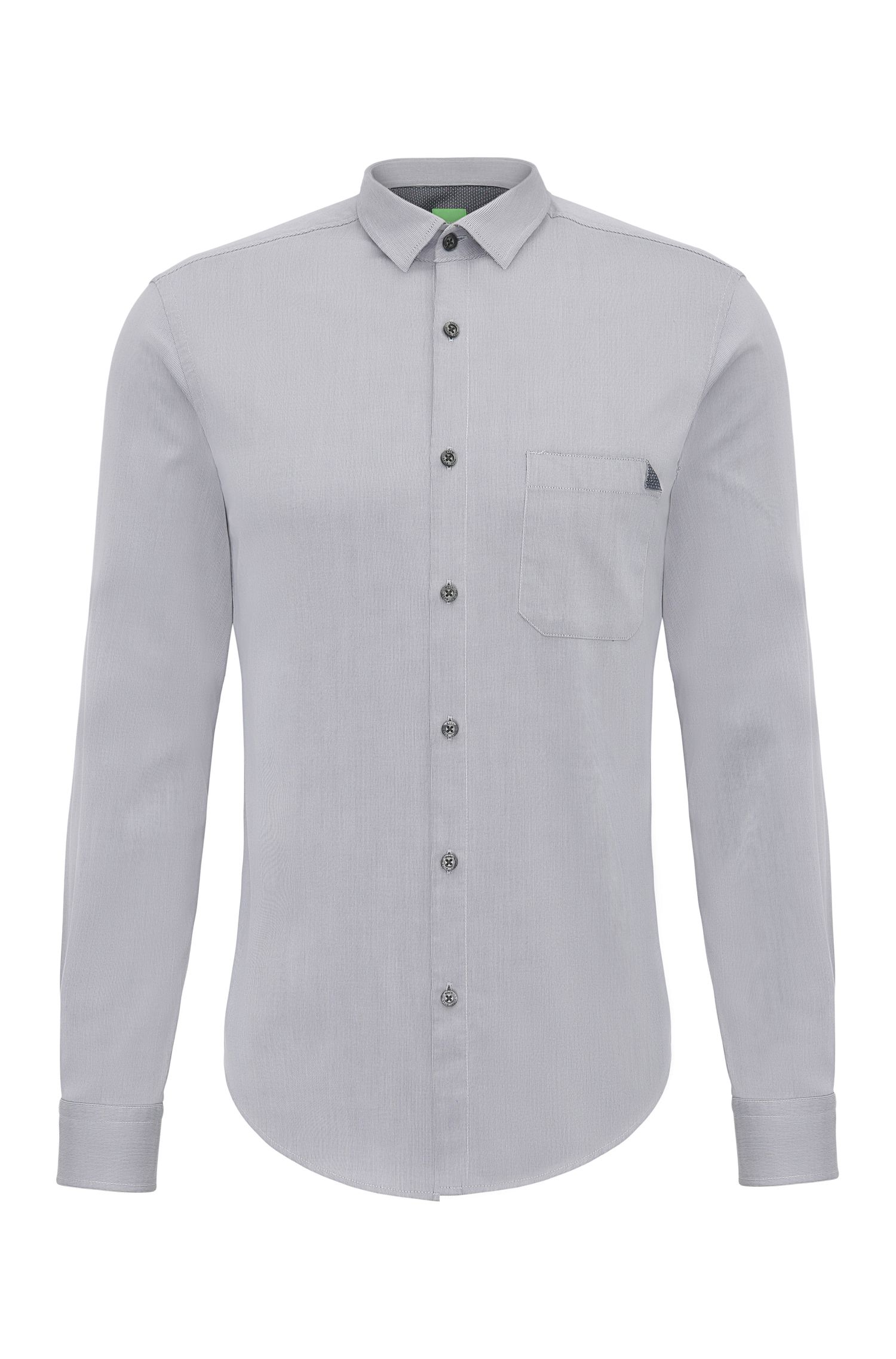 Plain regular-fit shirt in cotton: 'C-Bruel'
