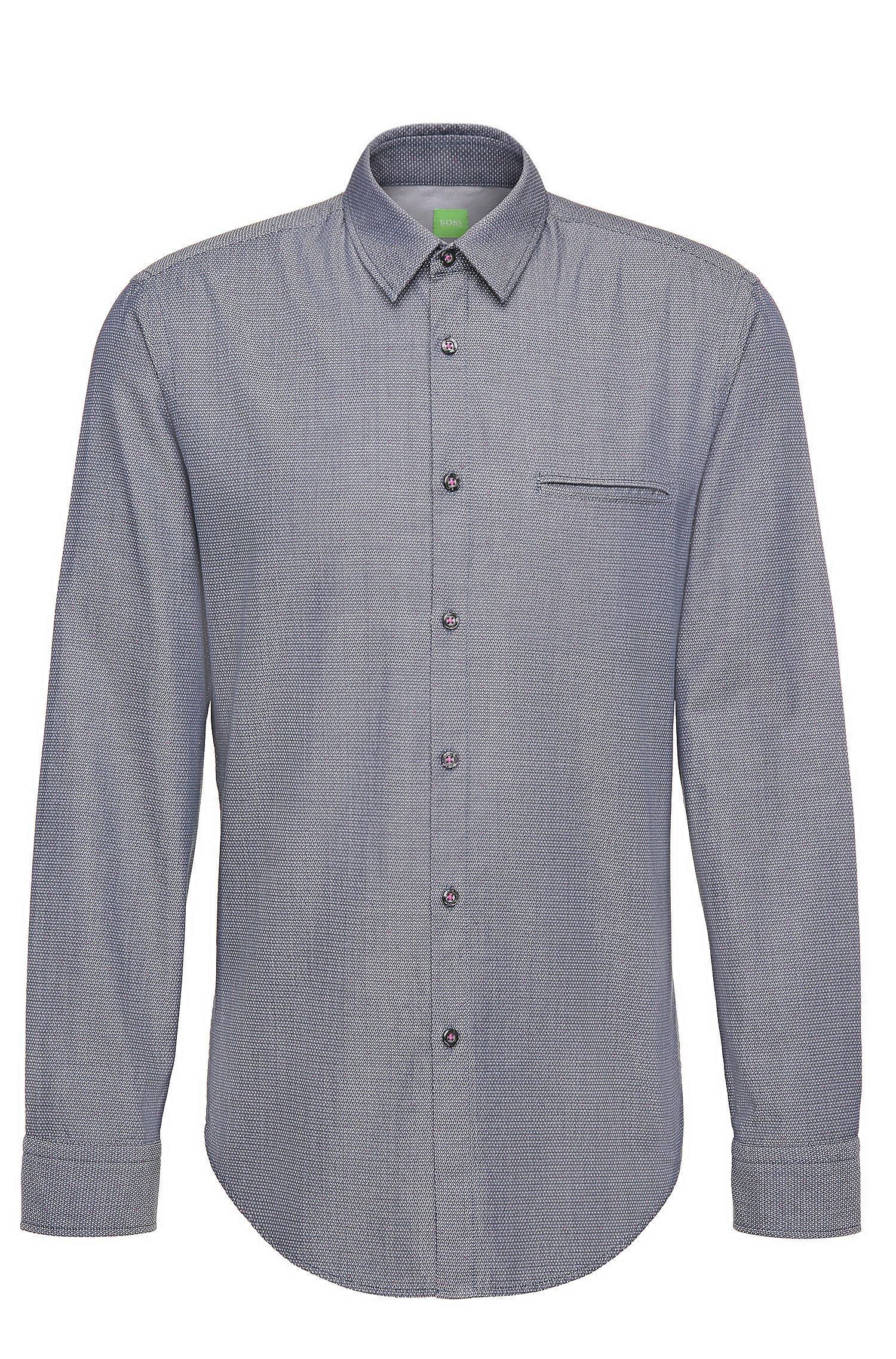 Finely patterned regular-fit shirt in cotton: 'C-Bacchis'