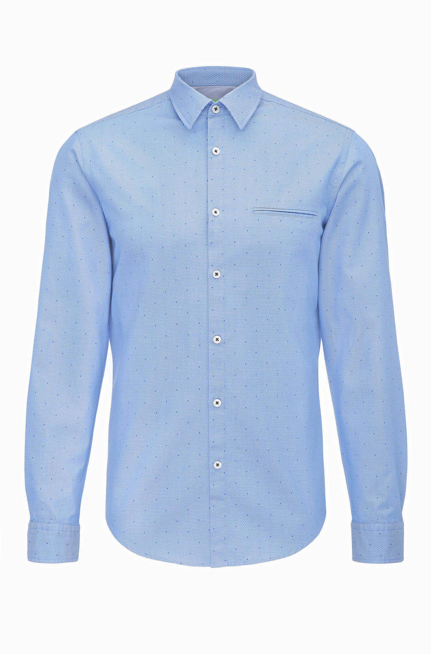 Fein gemustertes Regular-Fit Hemd aus Baumwolle: ´C-Bacchis`