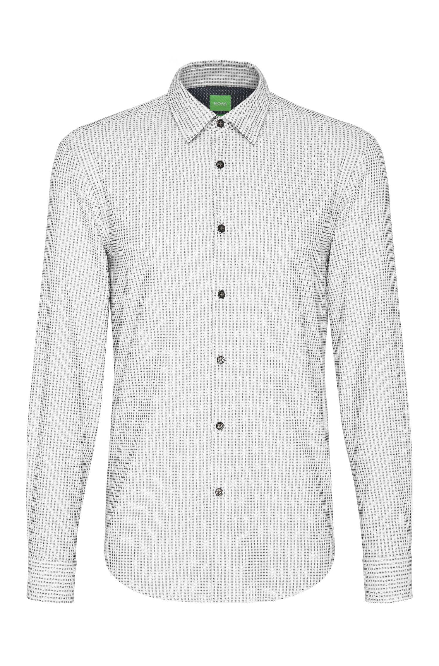 Gemustertes Regular-Fit Hemd aus Baumwolle: ´C-Bluemoon`