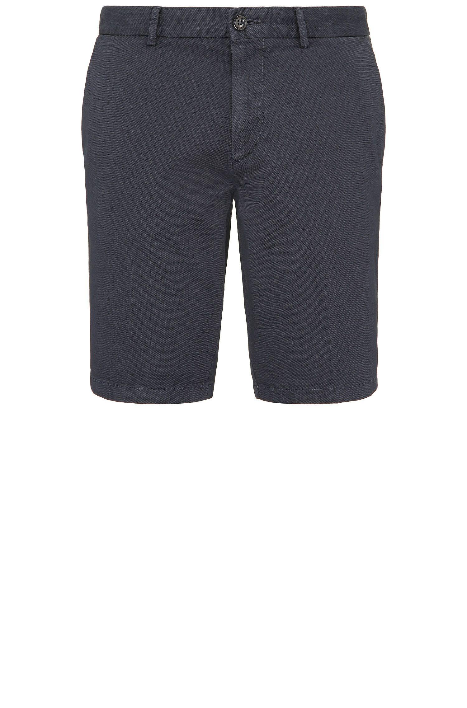 Short Slim Fit texturé en coton stretch: «C-Liem4-D»