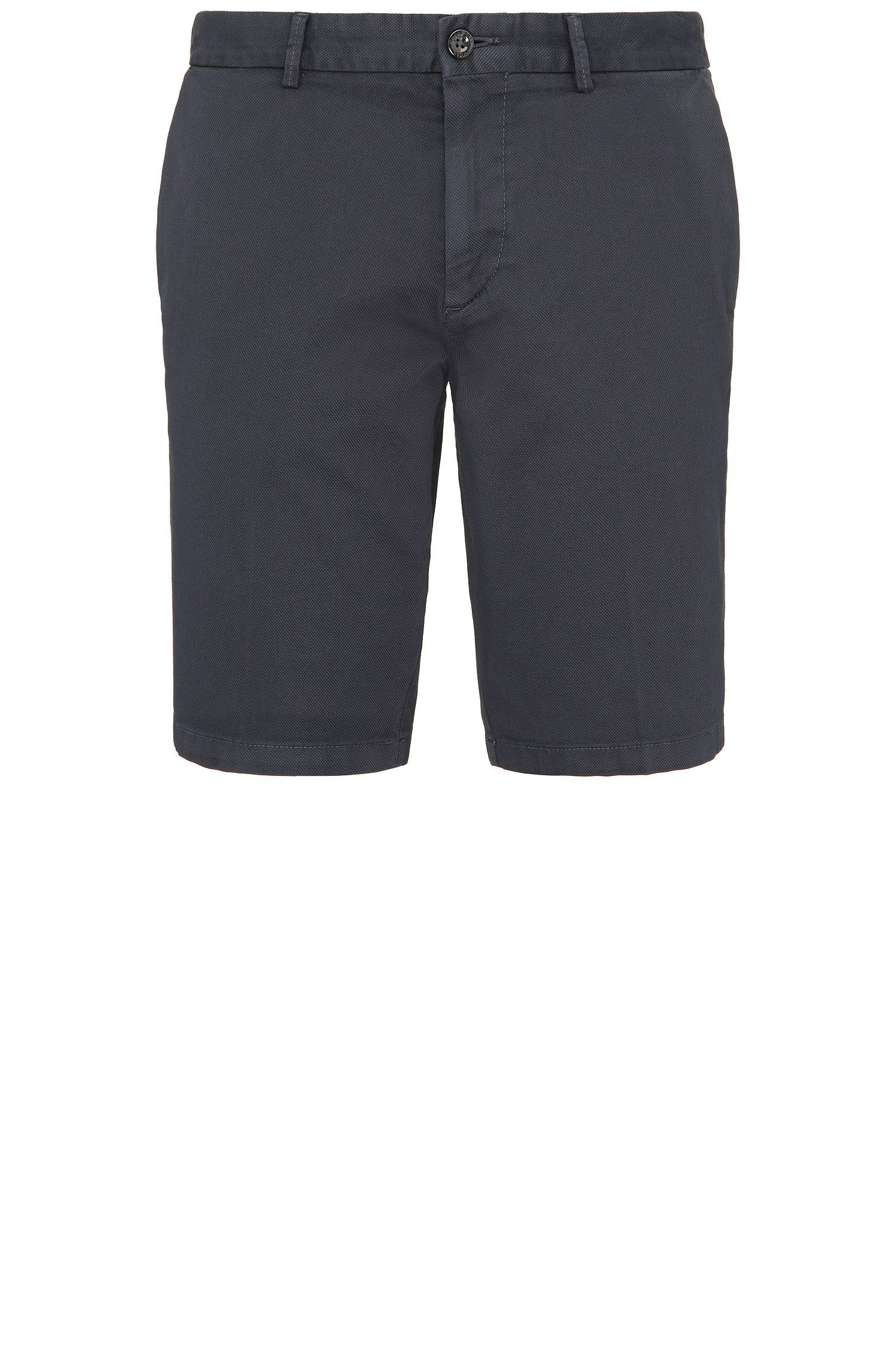 Texturierte Slim-Fit Shorts aus Stretch-Baumwolle: ´C-Liem4-D`