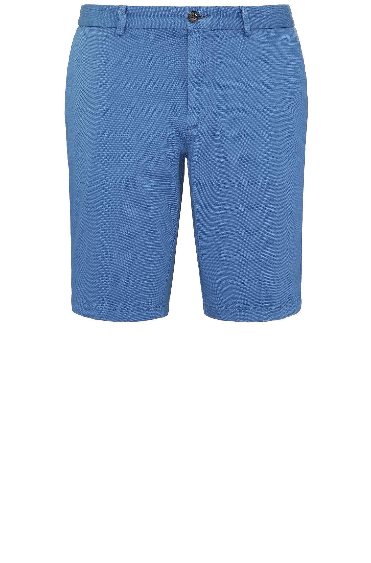 Pantaloncini corti slim fit lavorati in cotone elasticizzato: 'C-Liem4-D'