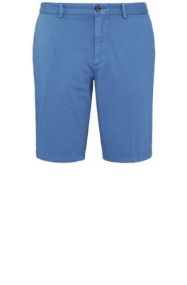 Pantaloncini corti slim fit lavorati in cotone elasticizzato: 'C-Liem4-D', Blu
