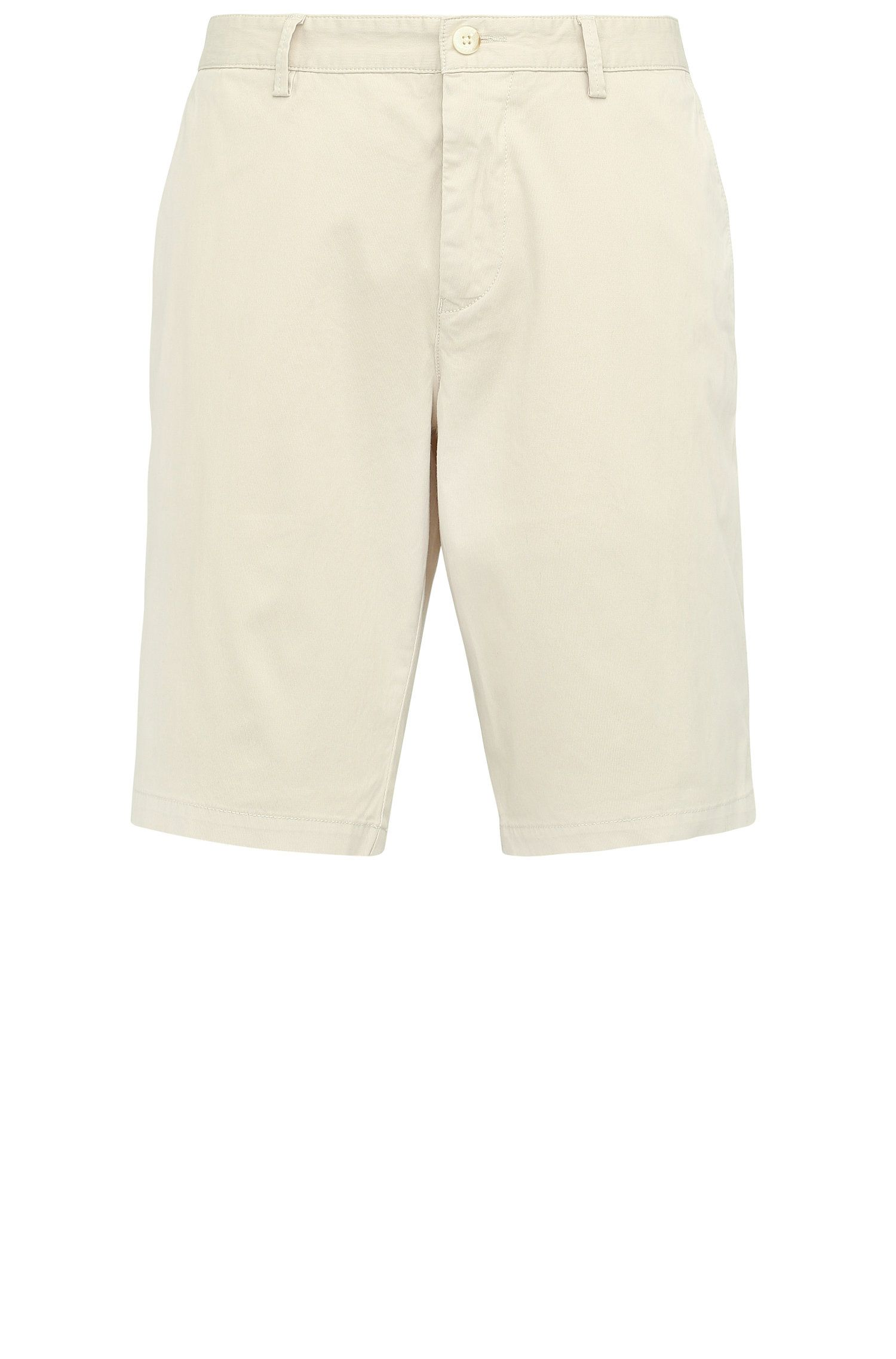 Regular-Fit Shorts aus elastischer Baumwolle: ´C-Clyde2-1-D`