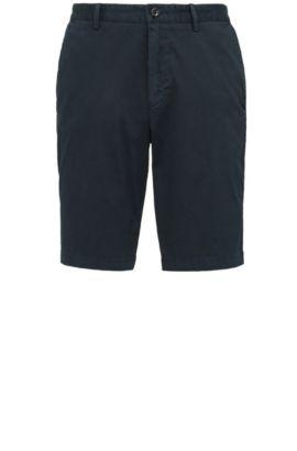 Shorts regular fit en algodón elástico: 'C-Clyde2-1-D', Azul oscuro