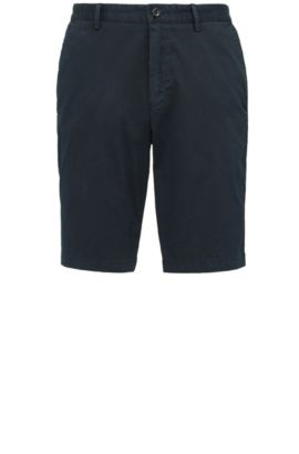 Regular-fit shorts in stretch cotton: 'C-Clyde2-1-D', Dark Blue