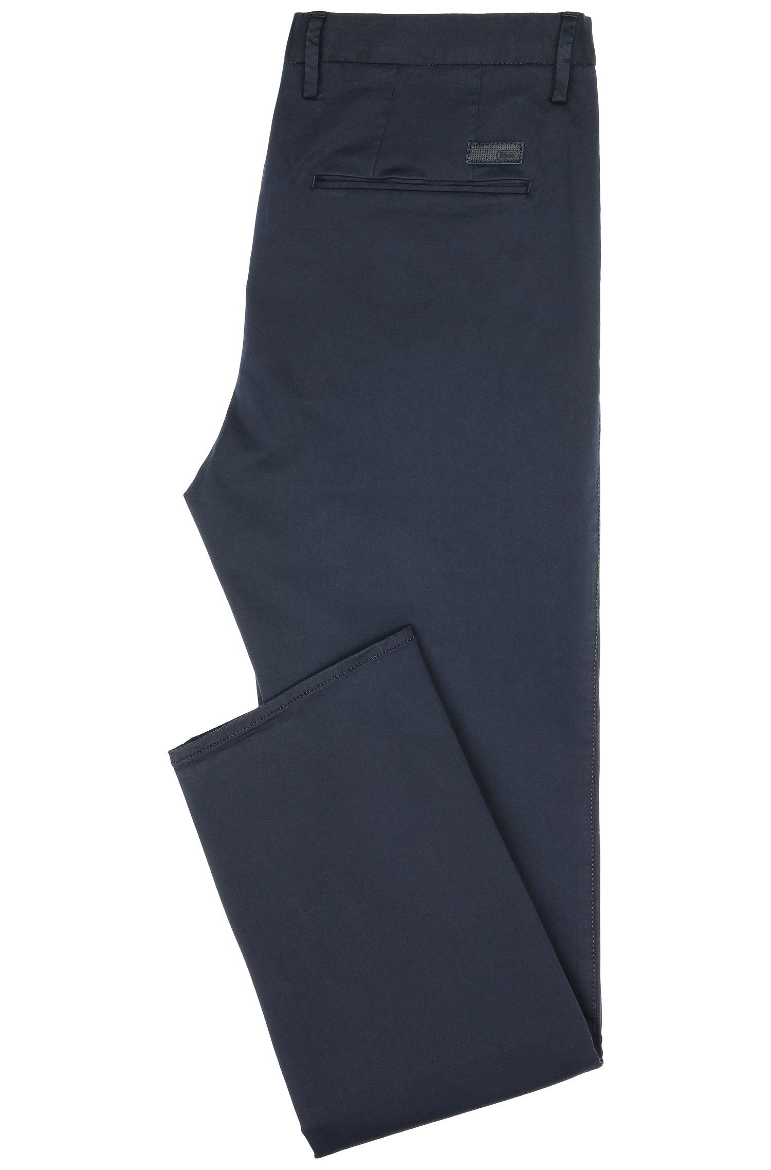 Slim-Fit Chino aus elastischem Baumwoll-Mix: ´C-Rice1-1-W`, Dunkelblau