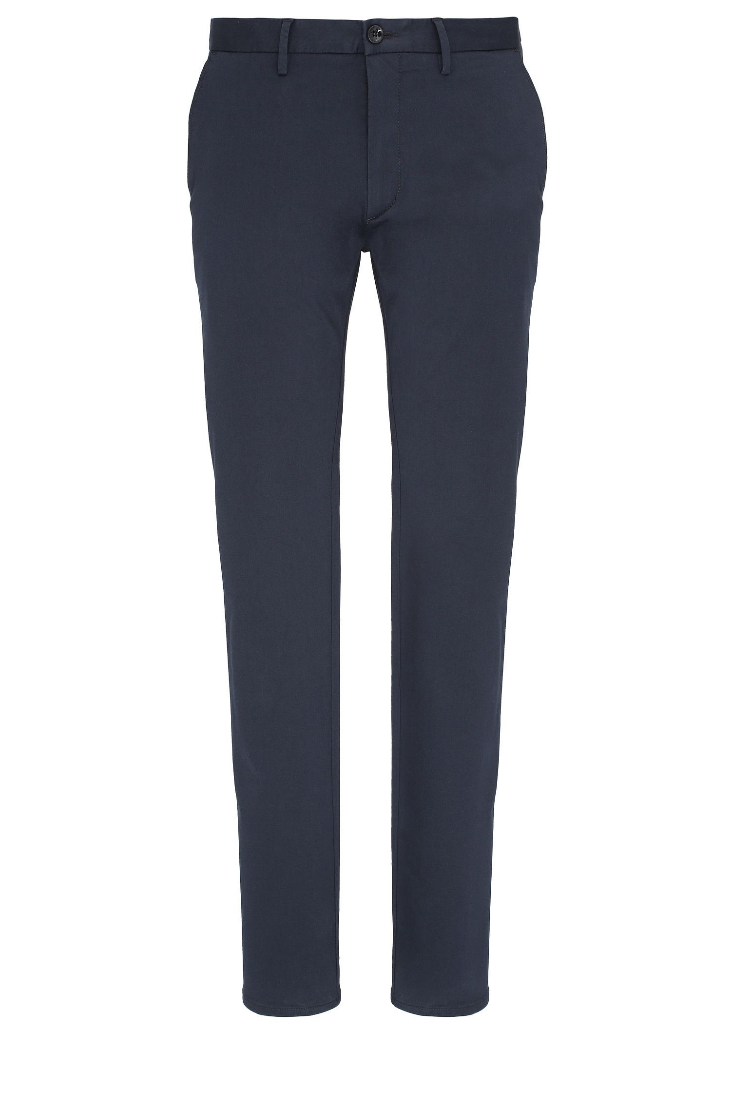 Chino slim fit in misto cotone elasticizzato: 'C-Rice1-1-W'