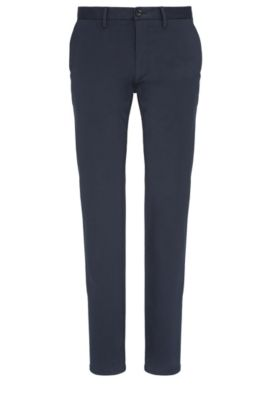 Chino slim fit in misto cotone elasticizzato: 'C-Rice1-1-W', Blu scuro