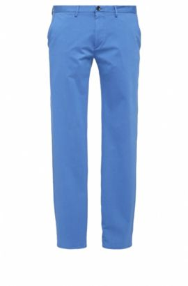 Slim-Fit Chino aus elastischem Baumwoll-Mix: ´C-Rice1-1-W`, Blau