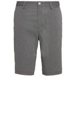 Shorts regular fit estampados en algodón elástico: 'C-Clyde2-5-W', Negro
