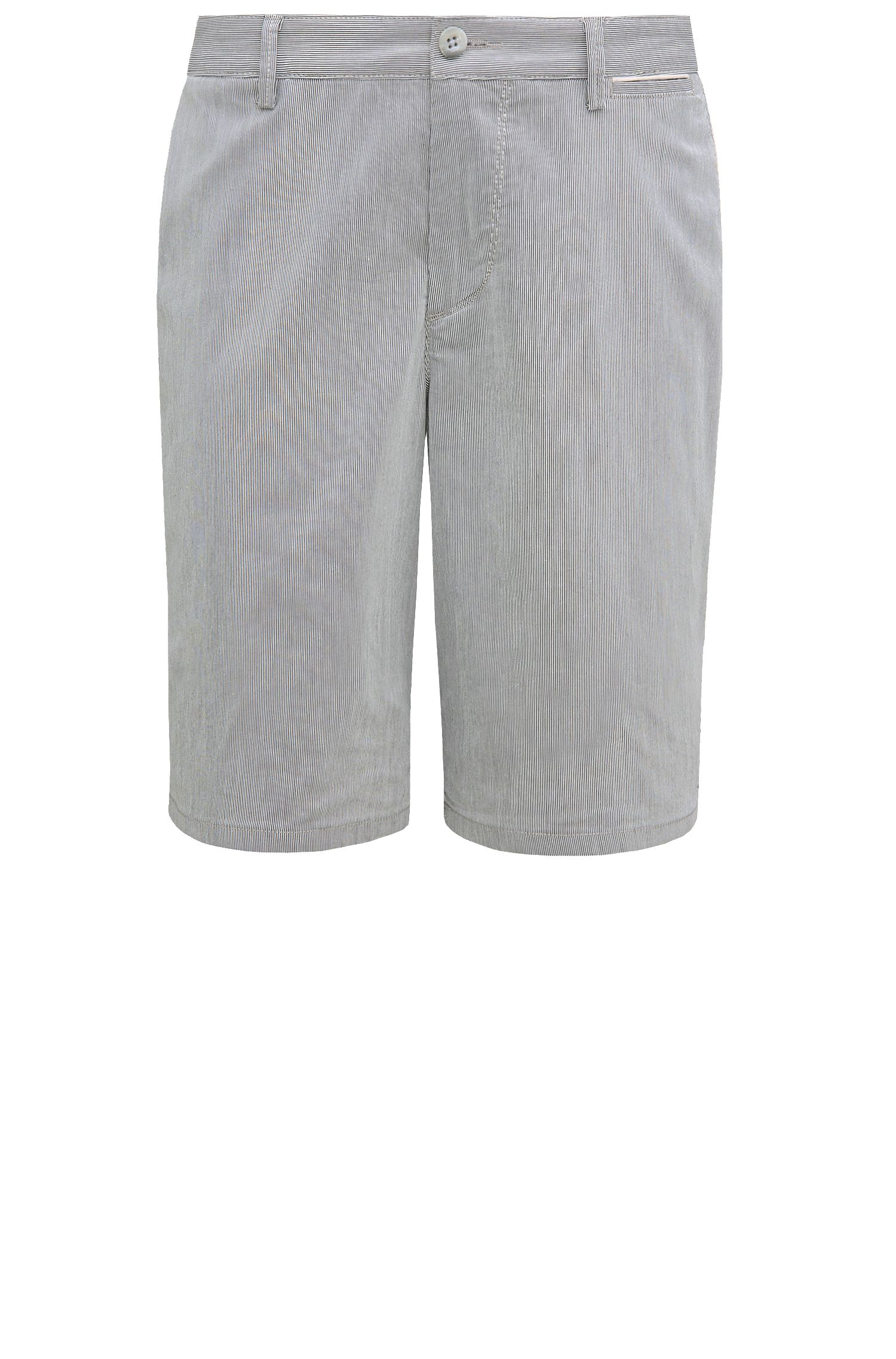 Pinstripe shorts in stretch cotton blend: 'C-Clyde2-6-W'