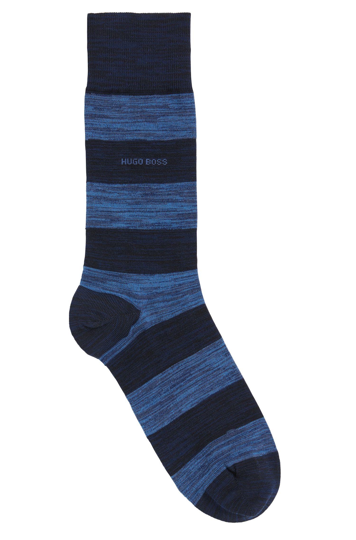 Chaussettes à rayures en coton mélangé extensible: «RS Design»