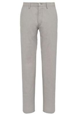 Pantalón slim fit en algodón elástico: 'C-Rice1-1-W', Gris claro