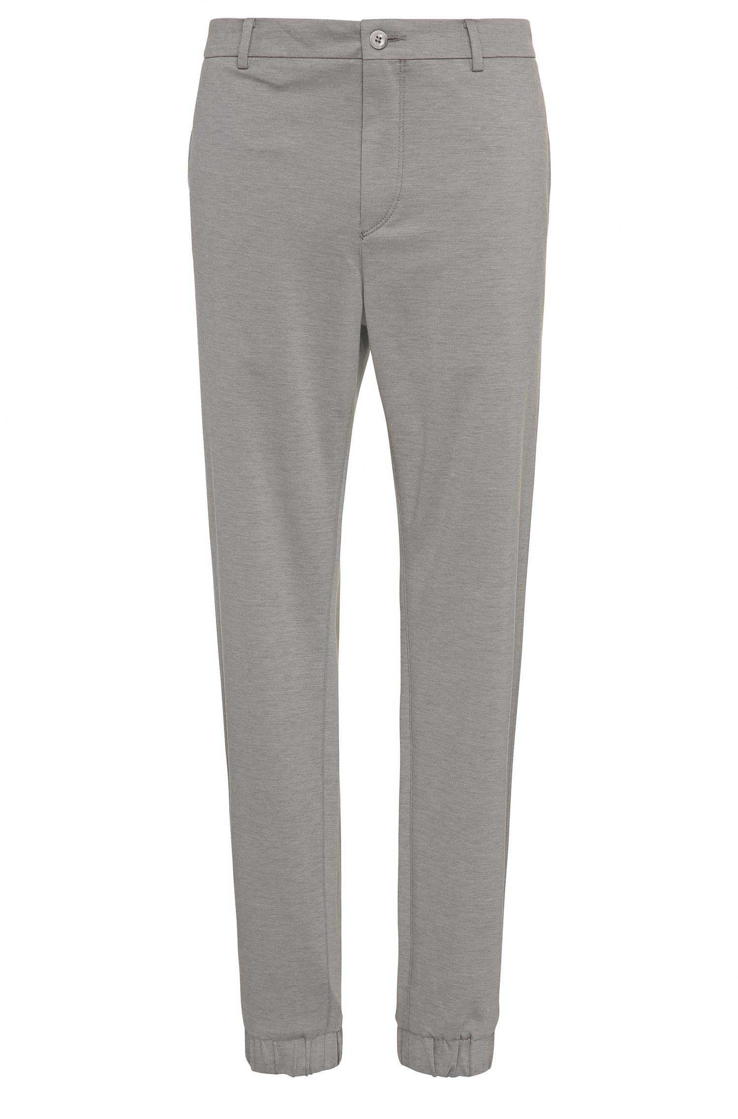 Slim-fit trousers in cotton blend: 'Lukes7-1'