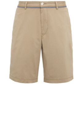 Shorts in cotton blend with elastane: 'C-Clyde2-14-W', Light Beige