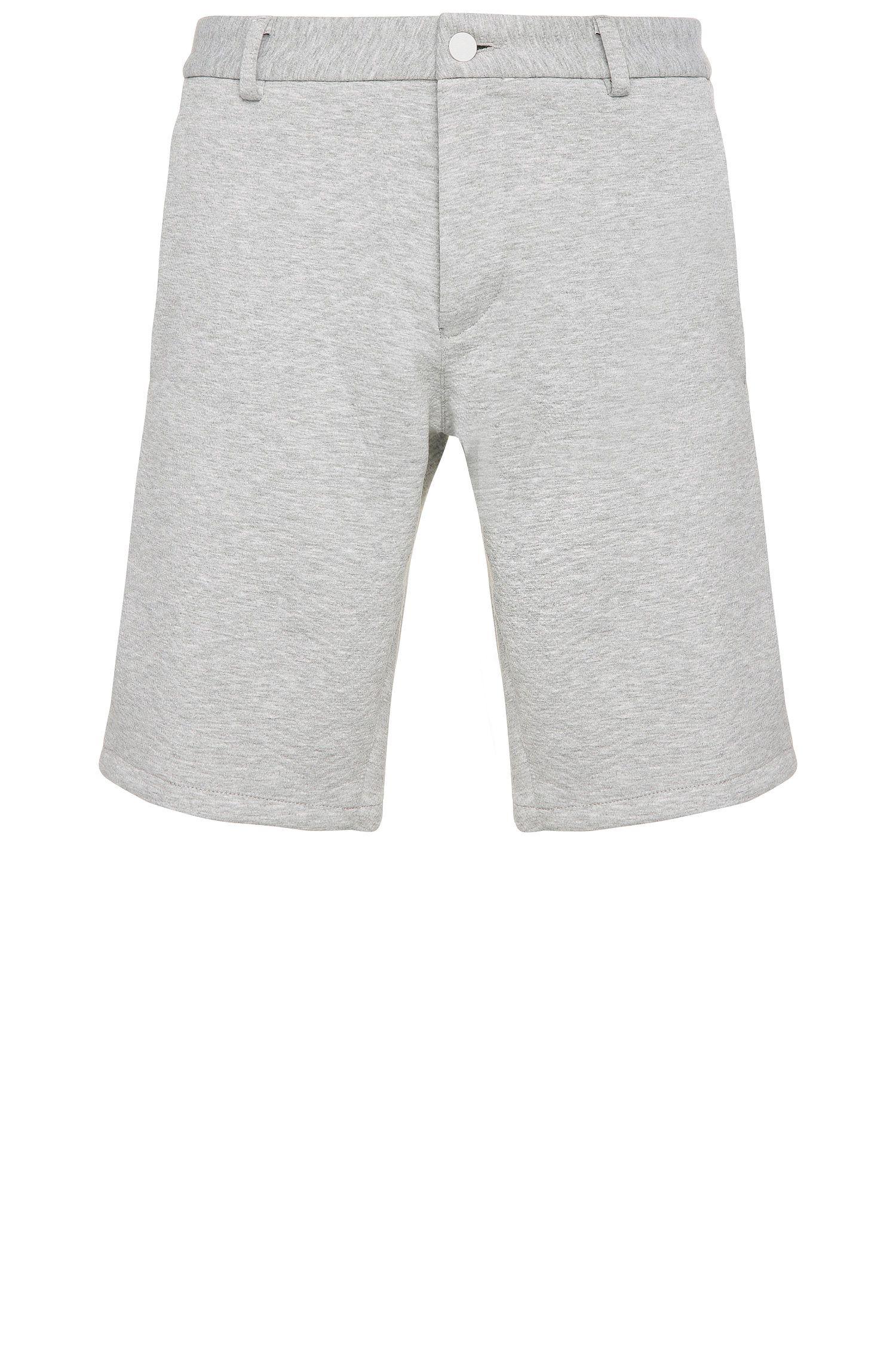Shorts slim fit jaspeados en mezcla de materiales elásticos: 'Liem4-3-W'