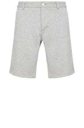 Pantaloncini corti slim fit mélange in materiali misti elasticizzati: 'Liem4-3-W', Grigio chiaro