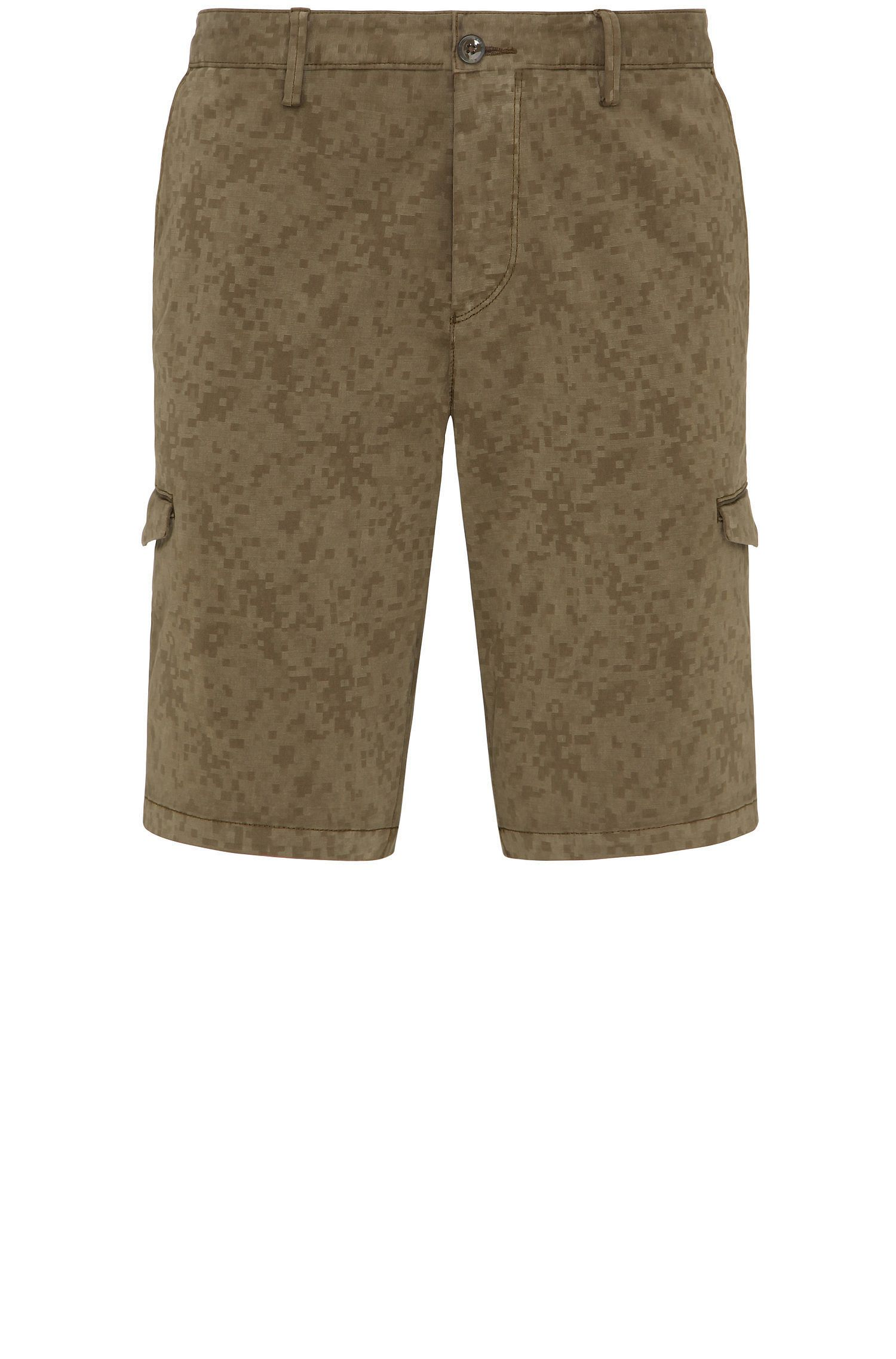 Gemusterte Slim-Fit Cargo-Shorts aus Stretch-Baumwolle: ´Liem4-2-D`