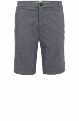 Short de golf Slim Fit en coton stretch mélangé : « Hayler-Slim », Bleu foncé