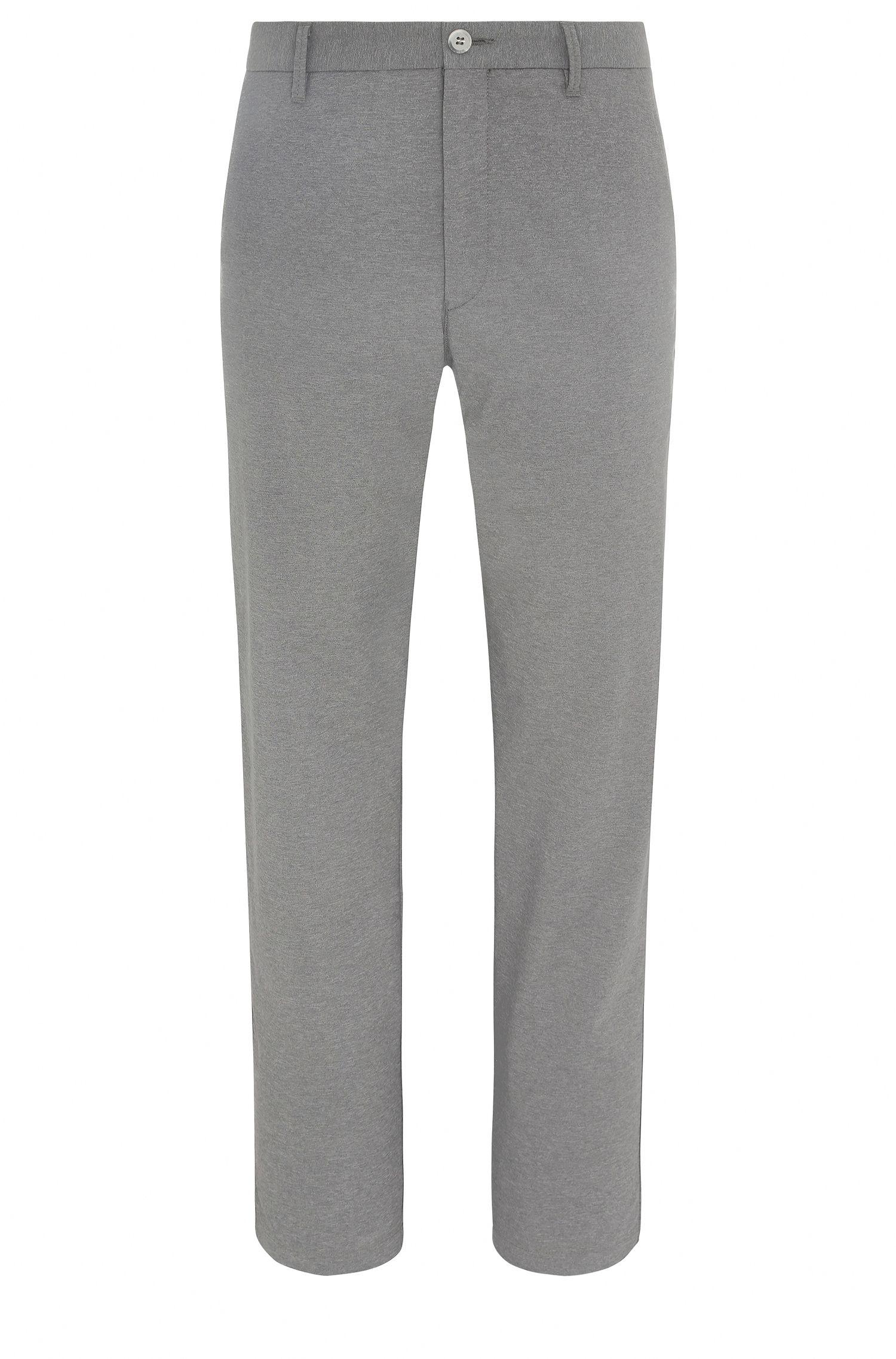 Pantalón de golf slim fit jaspeado en mezcla de materiales elásticos: 'Hakan-Slim'