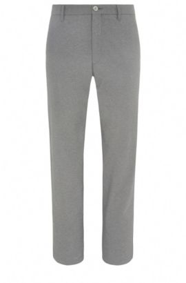 Mottled slim-fit golf trousers in a stretchy material blend: 'Hakan-Slim', Grey