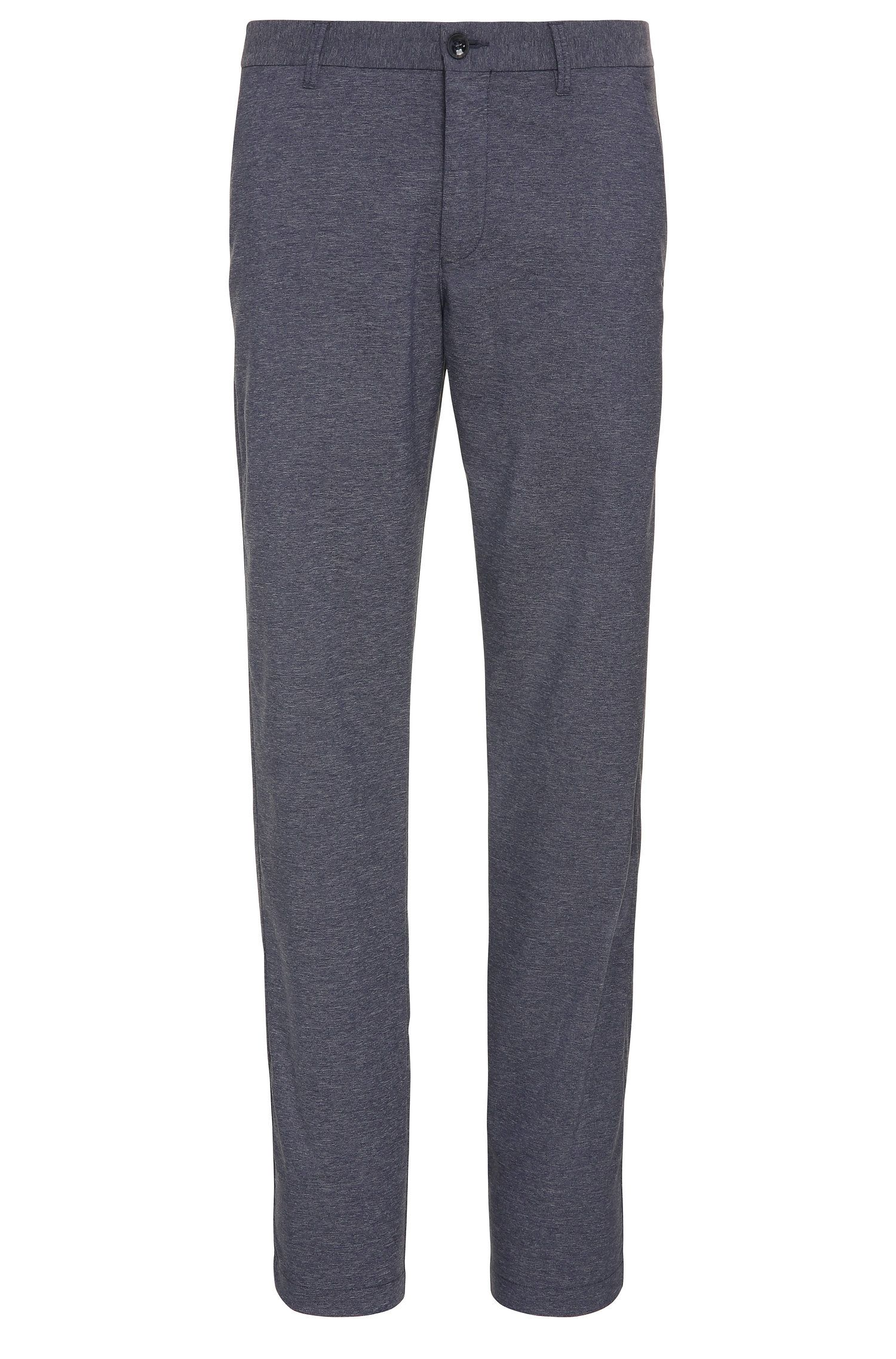 Pantaloni da golf slim fit mélange in materiali misti elasticizzati: 'Hakan-Slim'
