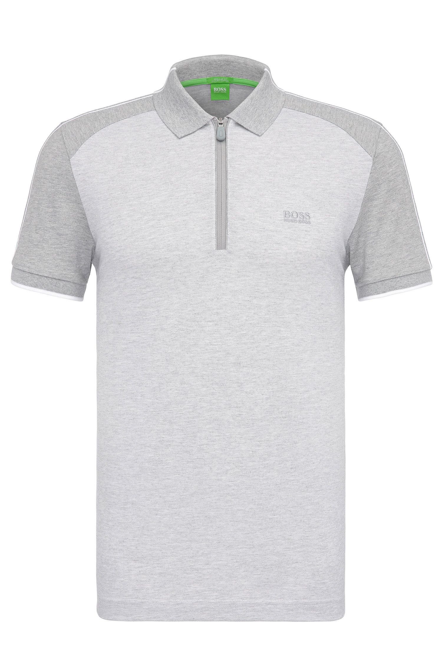 Regular-fit polo van katoen in colourblock-look: 'Philix'