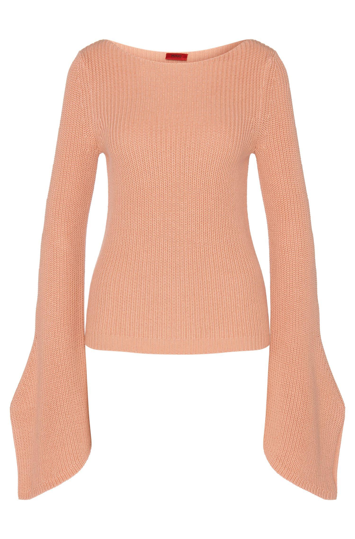 Pullover aus Baumwolle mit Trompeten-Ärmeln: 'Sedna'