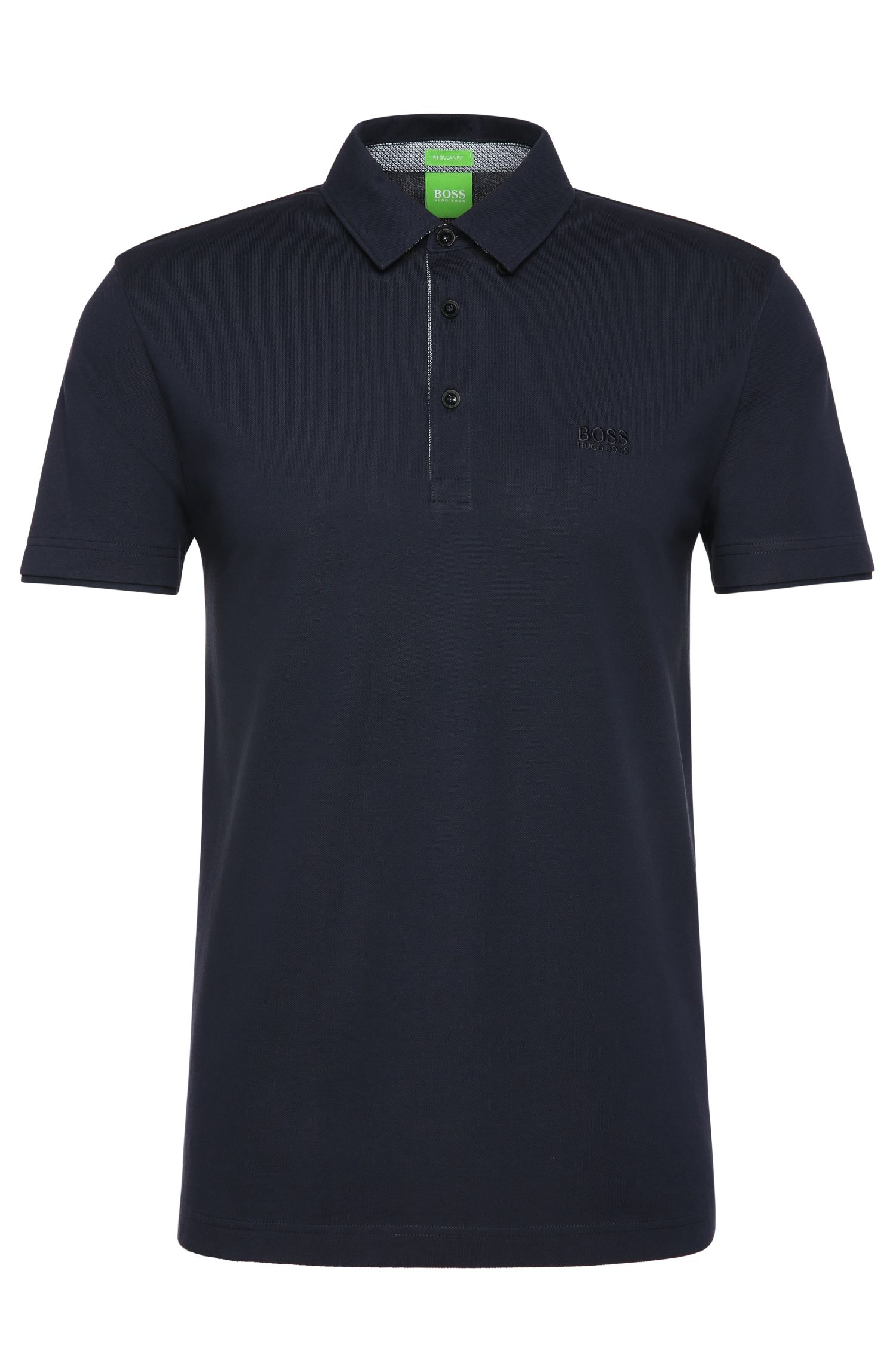 Polo Regular Fit en coton uni : « C-Panova »