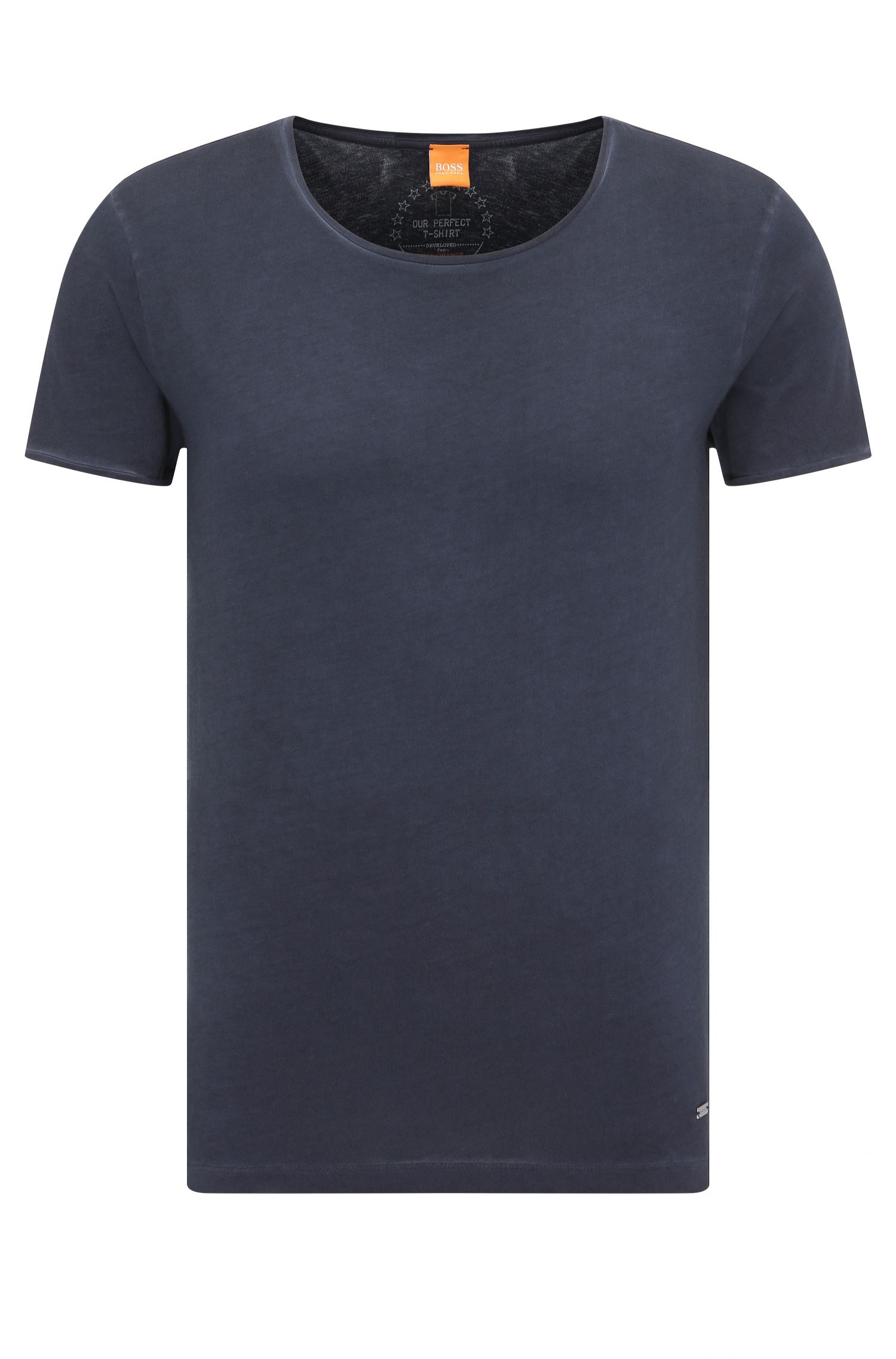 T-shirt Regular Fit en coton lavé Garment Washed