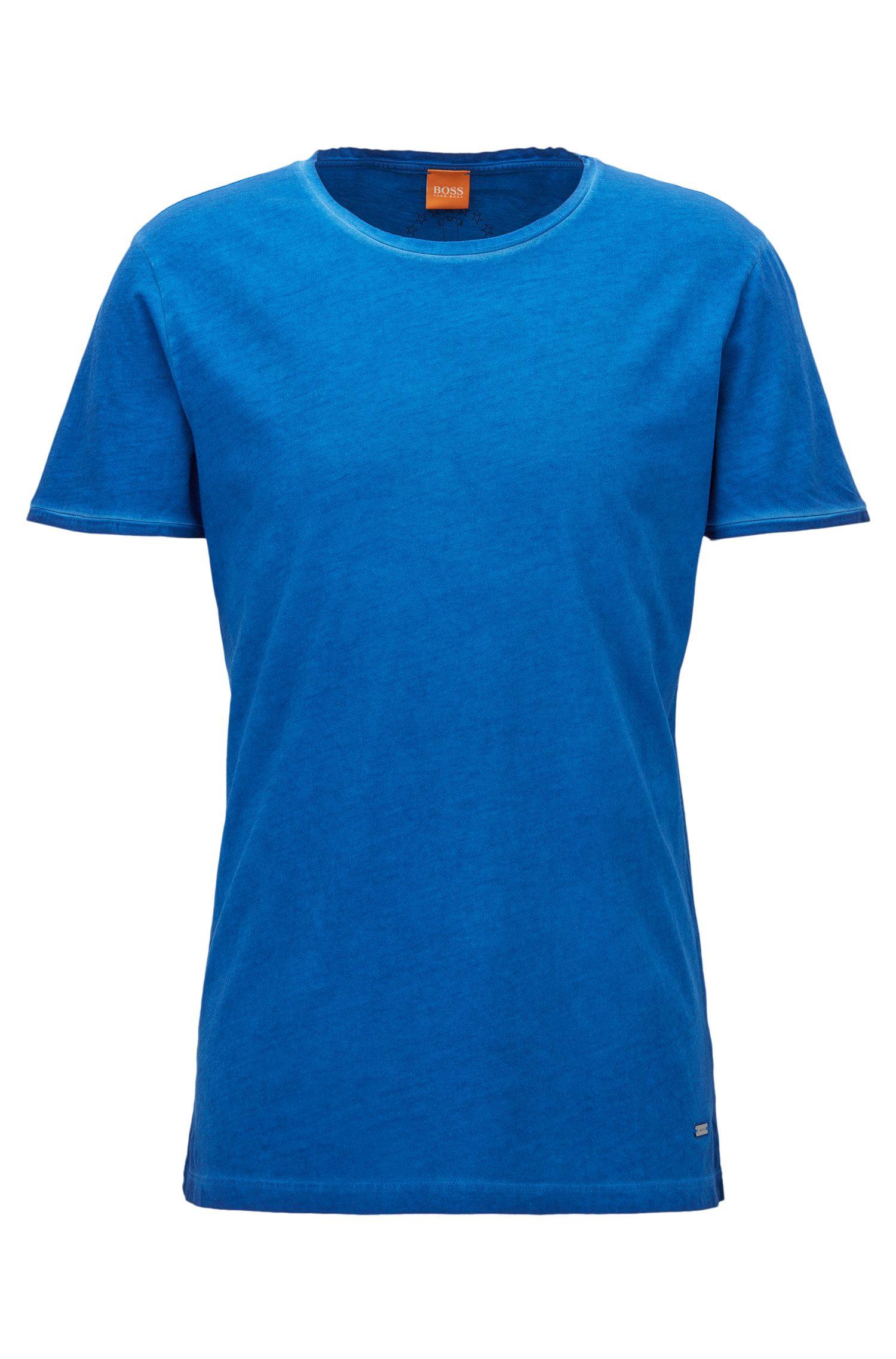 Regular-fit T-shirt van garment-washed katoen