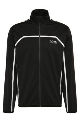 Chaqueta regular fit en mezcla de materiales con rayas: 'Swind Pro', Negro