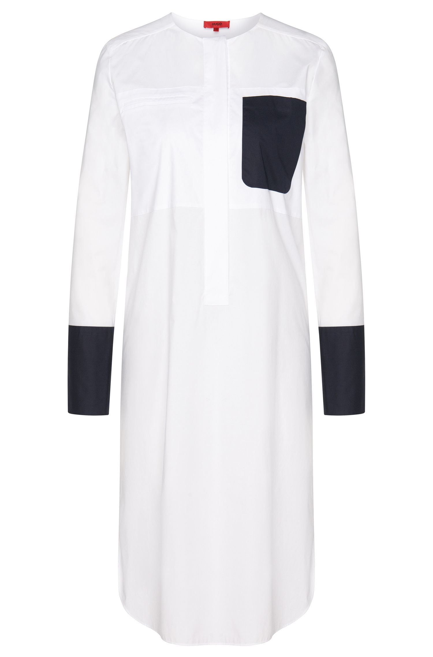 Long blouse with concealed button placket: 'Eylor'