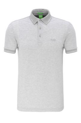 Regular-Fit Poloshirt aus Baumwolle: ´C-Vito`, Hellgrau