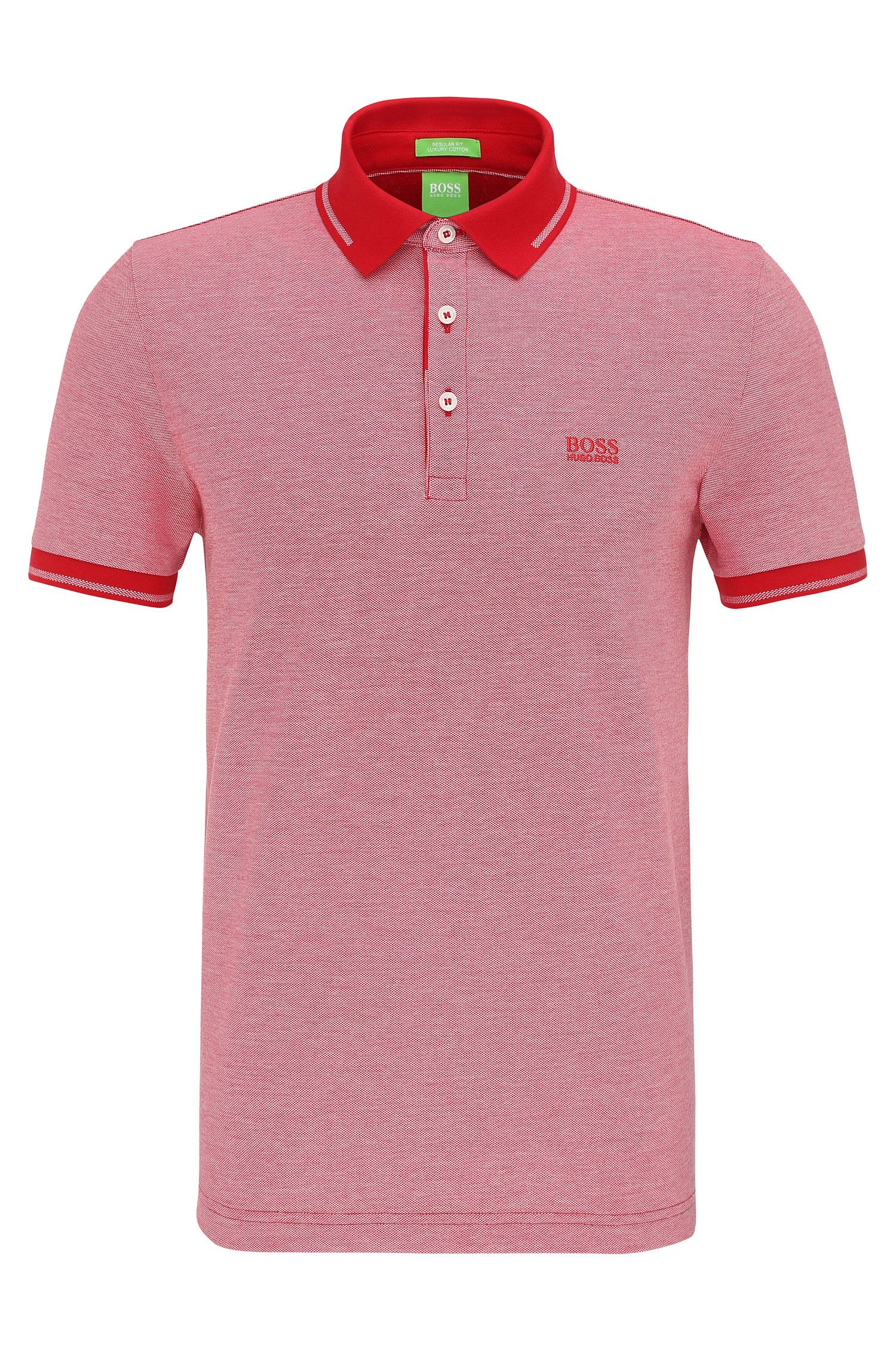 Regular-fit cotton polo shirt: 'C-Vito'