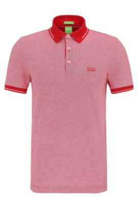 Regular-fit cotton polo shirt: 'C-Vito', Red