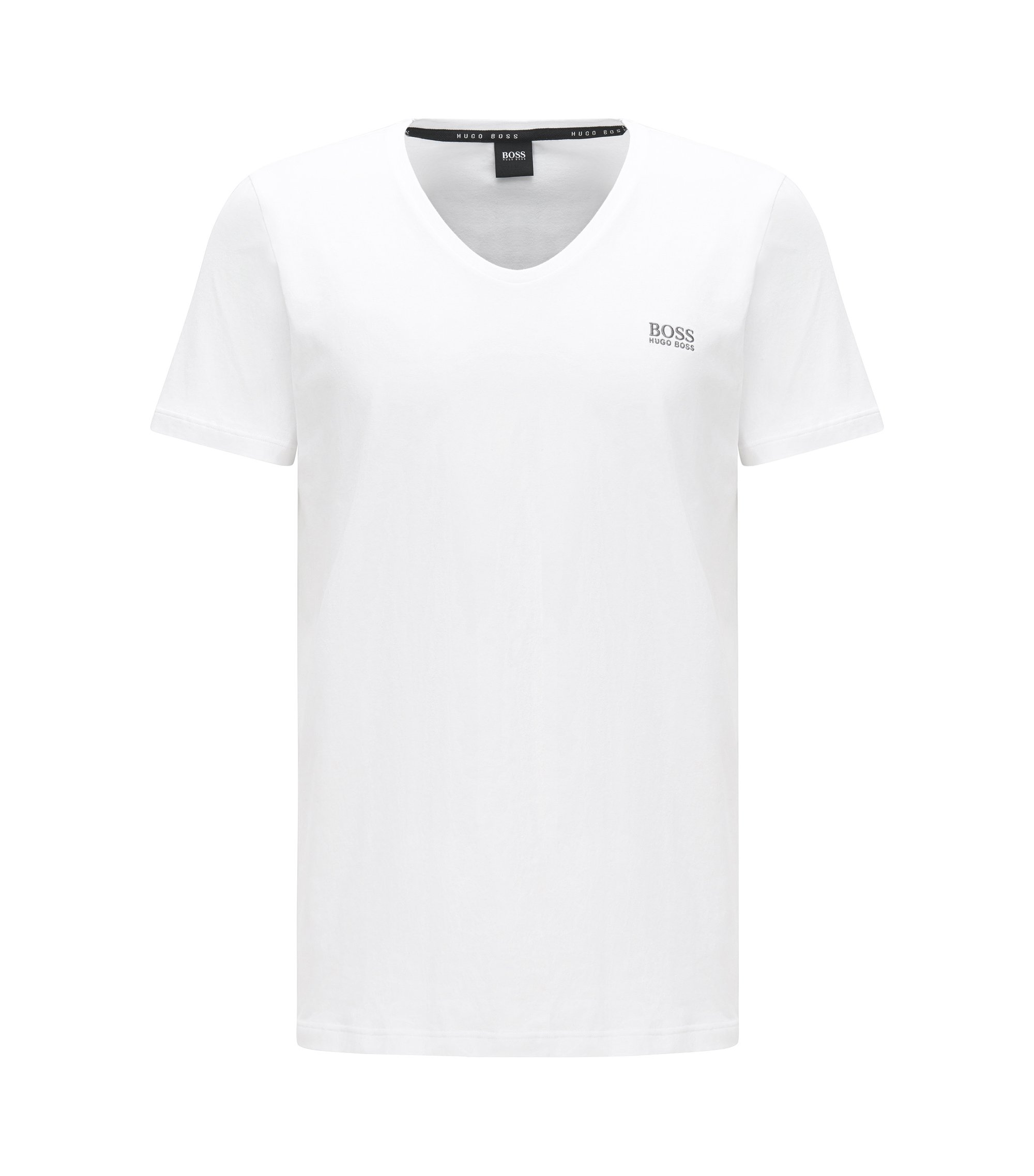 Lounge-T-shirt van single jersey, Wit