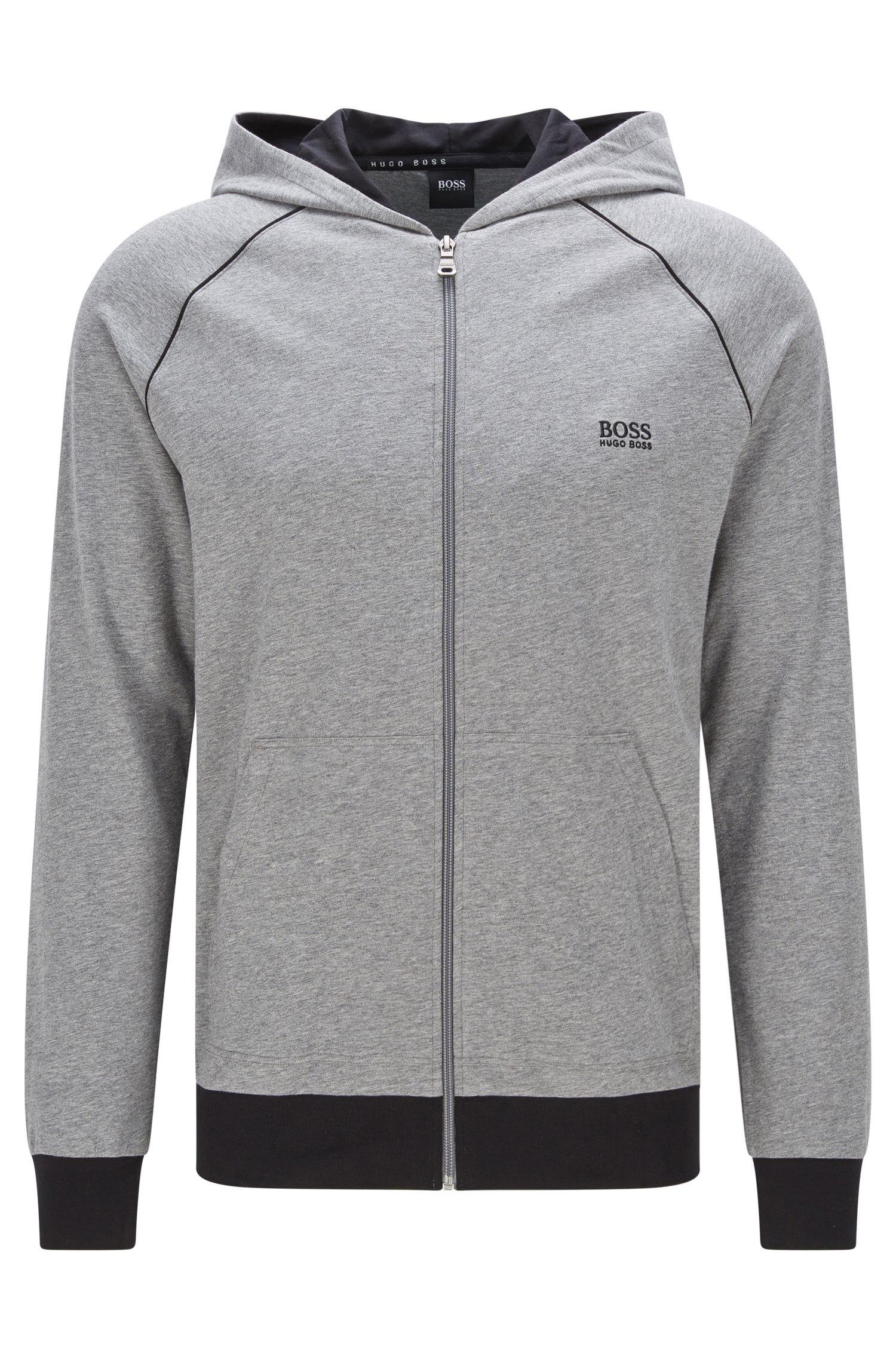 Blouson sweat Regular Fit en coton stretch à capuche: «Jacket Hooded»