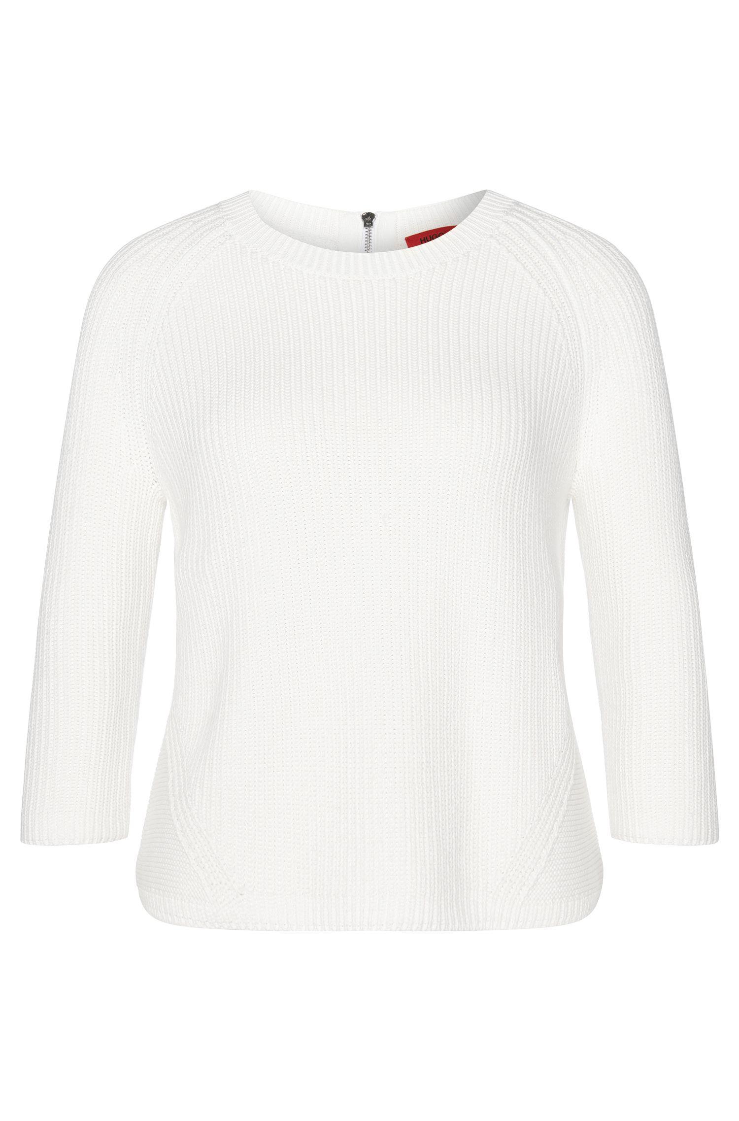 Pull en coton pourvu d'un zip dans le dos: «Sirina»