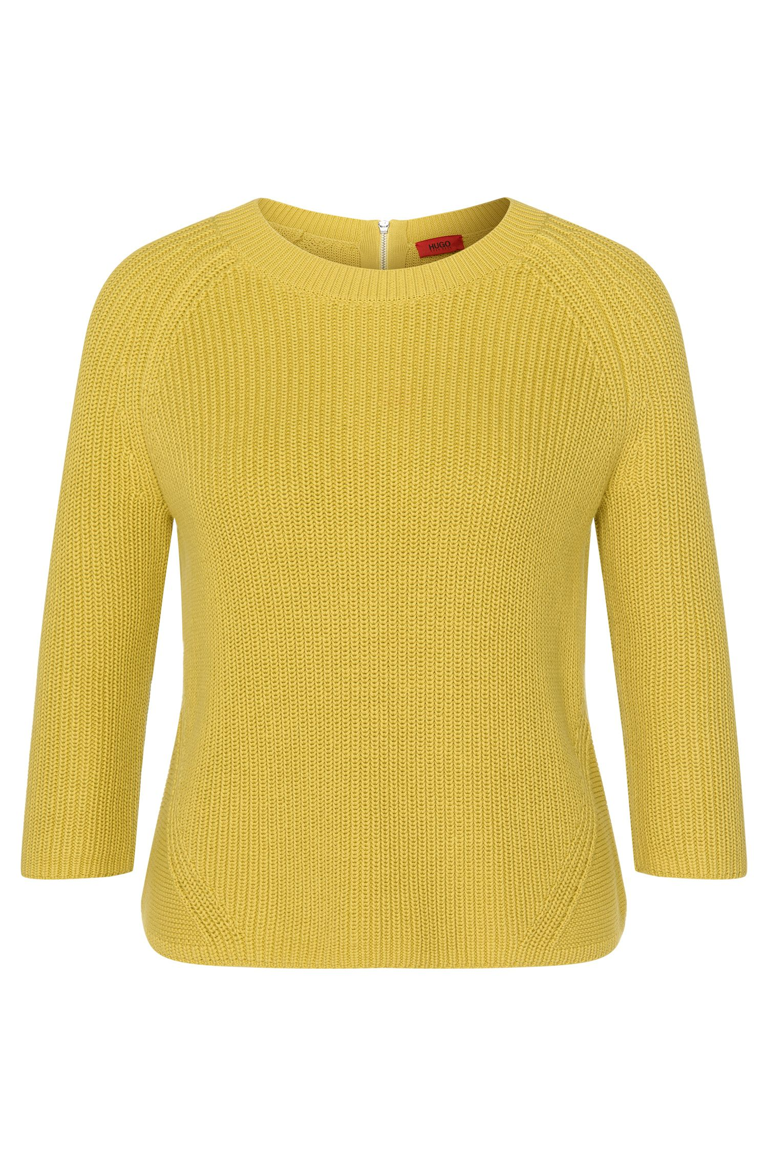 Cotton sweater with back zip: 'Sirina'
