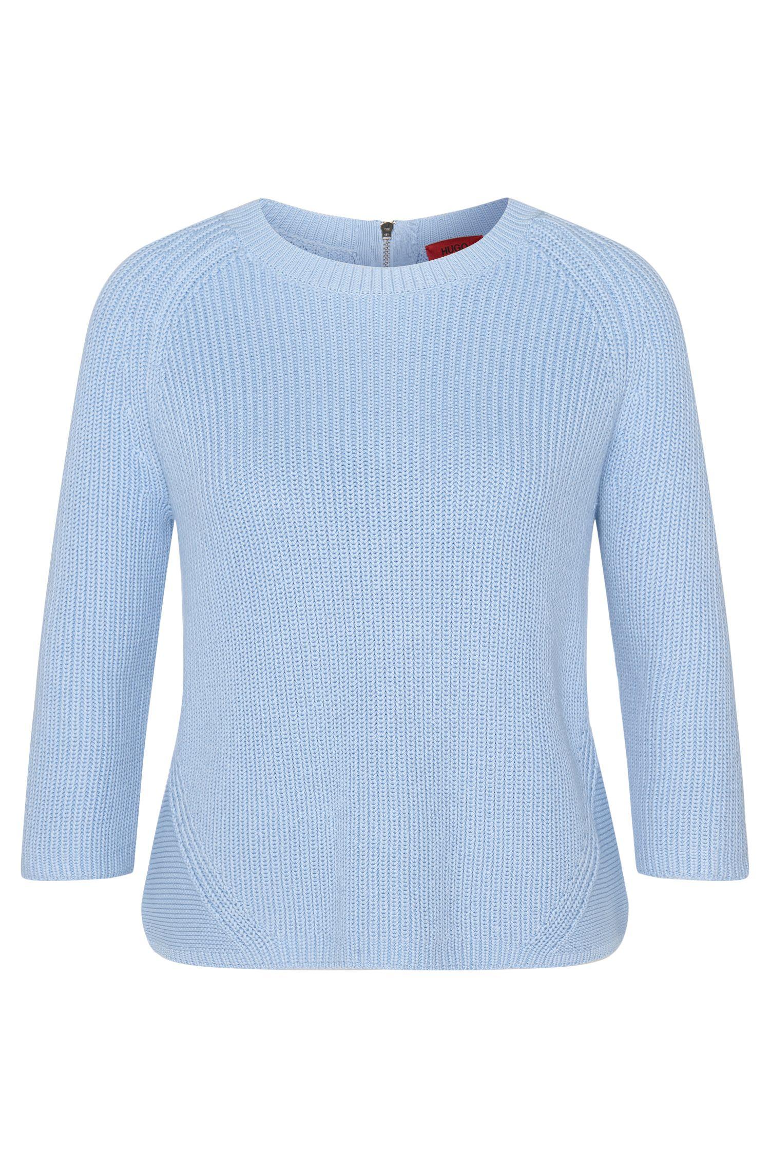 Maglione in cotone con zip posteriore: 'Sirina'